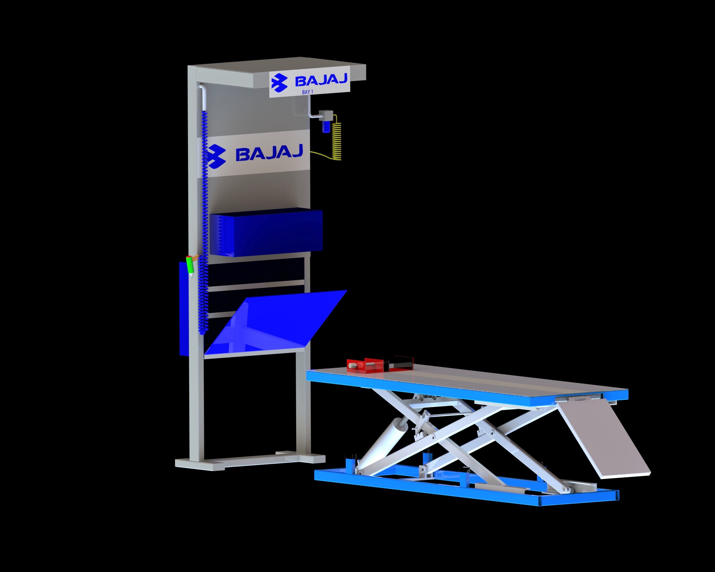 Hydraulic bike lift table