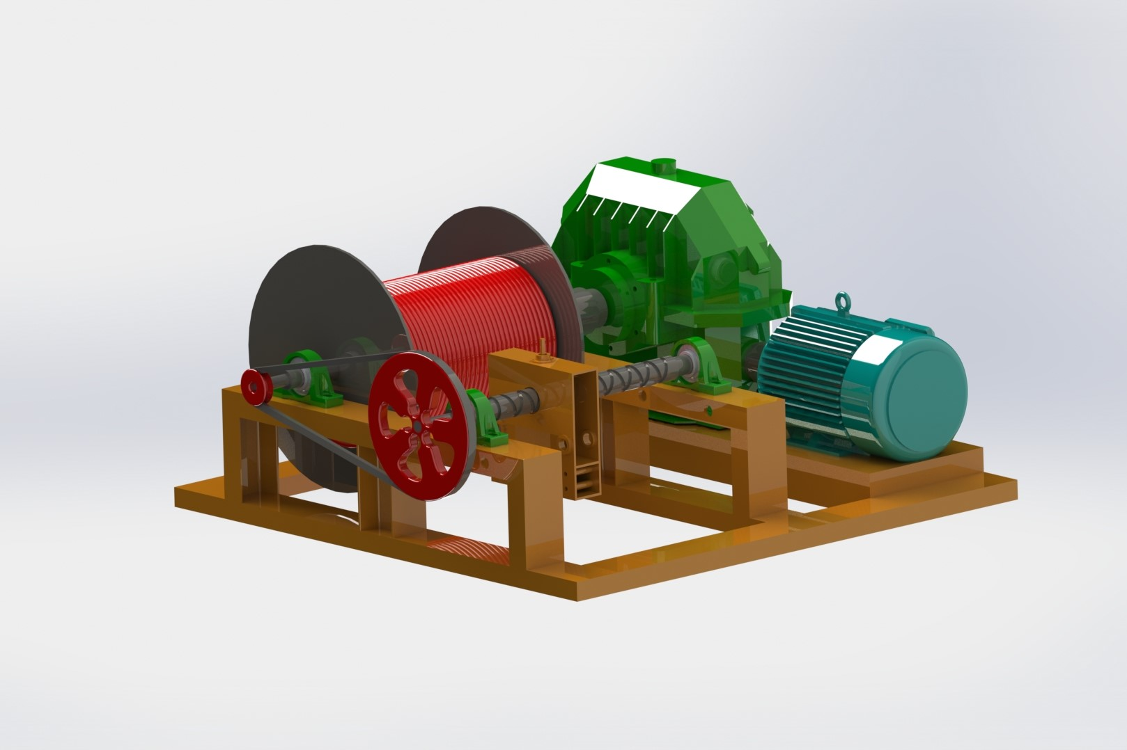 Winch Machine for Ropeways
